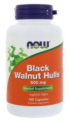 NOW Black Walnut Hulls 500 мг (100 кап)
